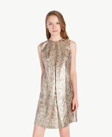 """Kleid aus Jacquard mit Lurex """"Lurex-Jacquard""""-Gold TA723C-01"""