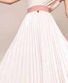 Юбка-миди из блестящей искусственной кожи Розовый Бутон женщина 201TP220A-05