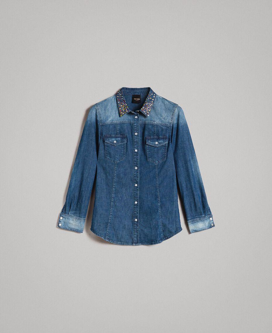 Camicia in denim con ricamo Denim Blue Donna 191MP2411-0S