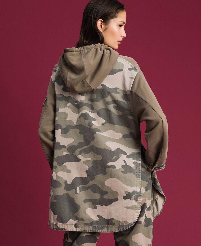 Maxi sweat avec détails camouflage Or Militaire / Imprimé Camouflage Femme 192TP2040-04