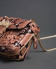 "Small Rebel shoulder bag with python print ""Anthracite"" Grey Python Print Woman 192TA7231-02"