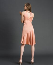 "Satin dress with asymmetric tailoring ""Nude Pink"" Woman 192TT2295-04"