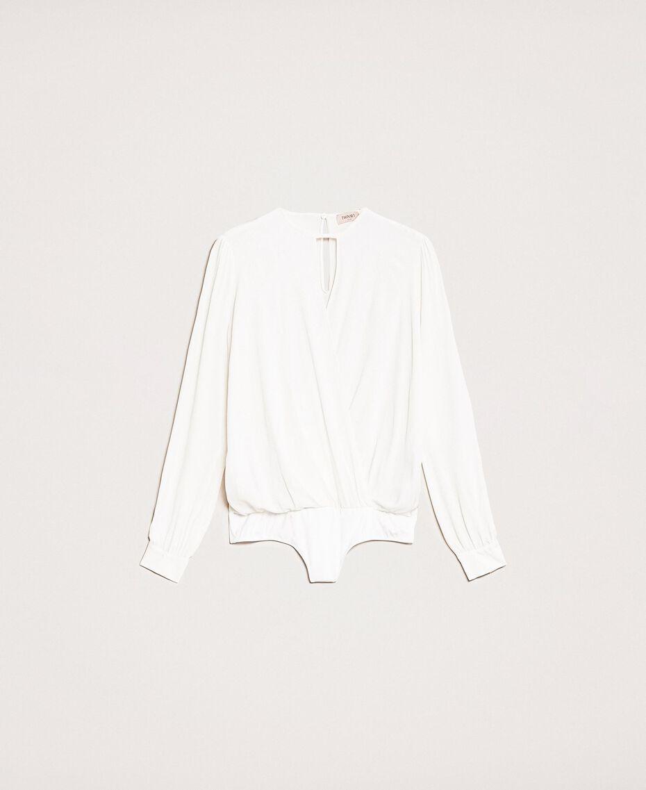 Блуза-боди из смесового шелка Белый Снег женщина 201TP2504-0S