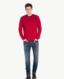 Pull laine Rouge Vénitien Mâle UA73BB-01