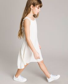 Long dress with lace Pale Cream Child 191GJ2433-0S