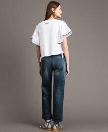 Chino-Jeans mit Fade-out-Waschung Denimblau Frau 191MP2478-04