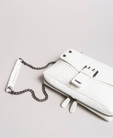 Rebel leather shoulder bag White Snow Woman 191TA7233-01