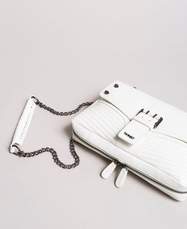 Sac à bandoulière Rebel en cuir Blanc Neige Femme 191TA7233-01