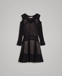 Lace stitch dress Black Woman 191TP3070-0S