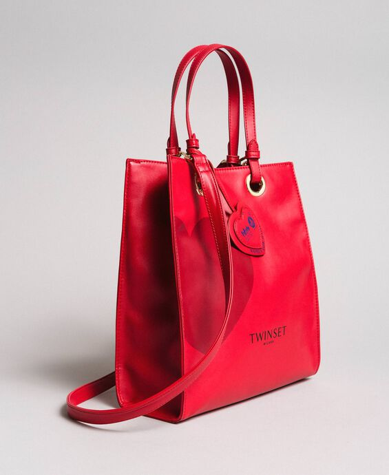 Faux leather Mon Coeur tote bag