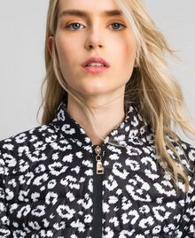 Ultra-light puffer jacket, animal print Black / Lily Animal Print Woman 192MP2100-05