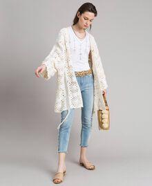Skinny jeans with fringes Denim Blue Woman 191MT2434-0T