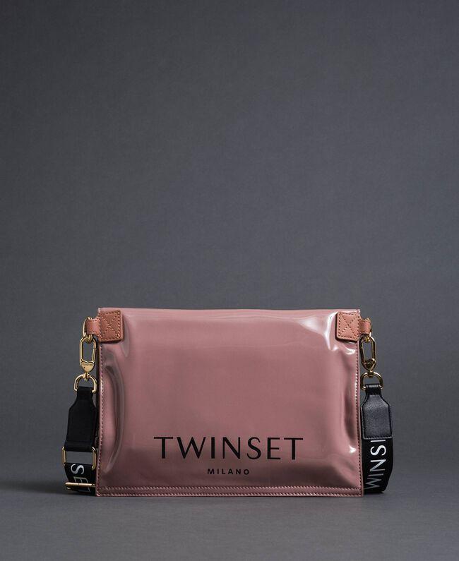 Petit sac cabas repliable en similicuir Rose Poudre Femme 192TA7174-01