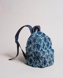 Denim patchwork-effect backpack Arabian Blue Woman 191MA7080-03