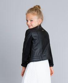Veste en similicuir Noir Enfant GA82BA-03