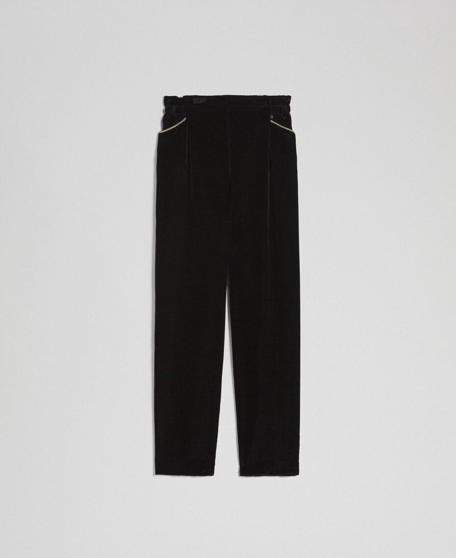Velvet trousers Black Woman 192TT2420-0S