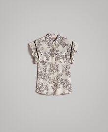 Hemd aus Seidenmischung mit Print Motiv Toile De Jouy Schwarz Frau 191TT2403-0S