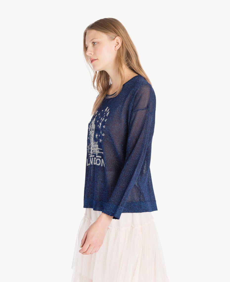 Lurex knit top Royal Blue Lurex Woman PS83Y1-02