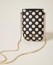 Faux leather phone holder Black Woman 202TD8118-01