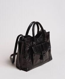 Rebel leather shopping bag Black Woman 191TA7235-02