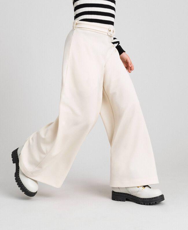 Pantalon palazzo avec ceinture Avoine Enfant 192GJ2451-01