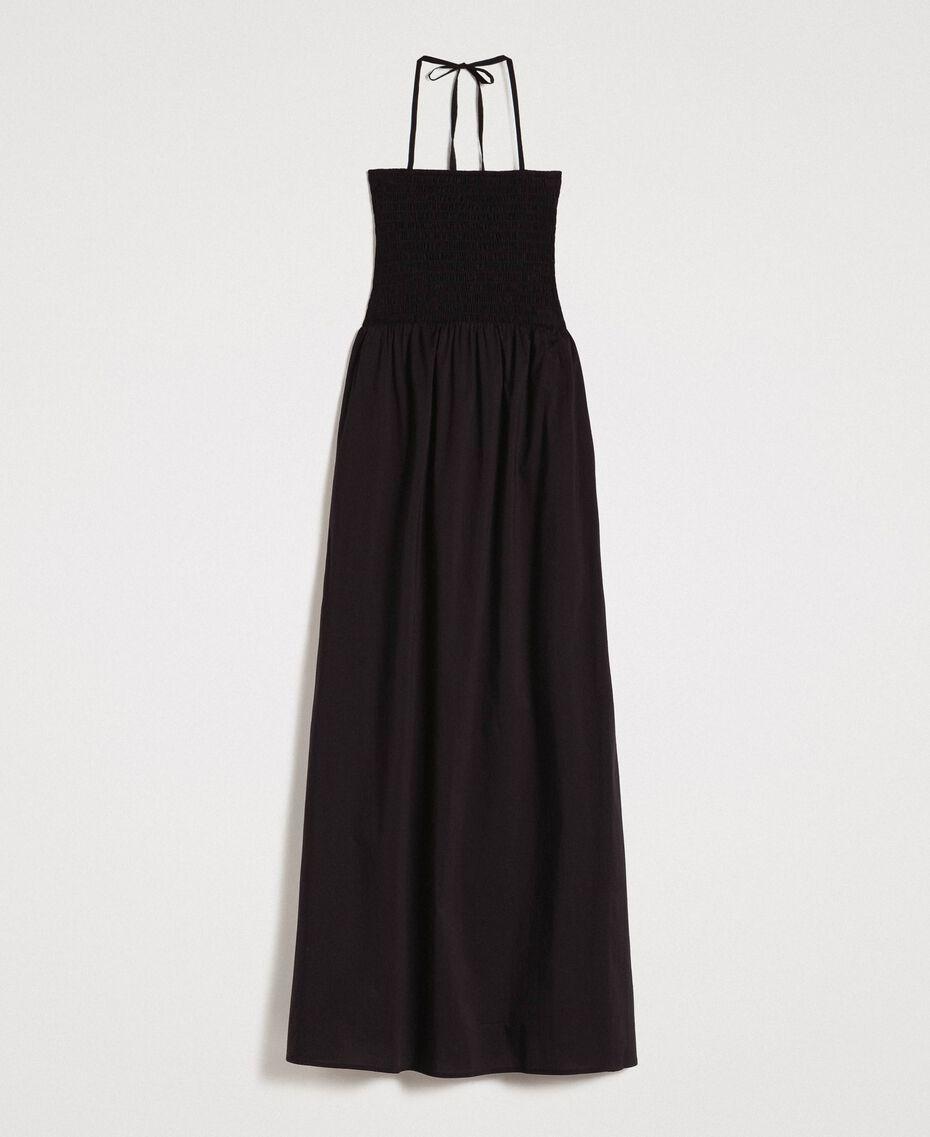 Robe longue en popeline Noir Femme 191LM2CHH-0S