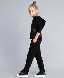 Pantalon en point de Milan Noir Enfant GA82F1-02