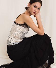 Кружевной топ с вышивками Слоновая кость женщина 201TP2461-04