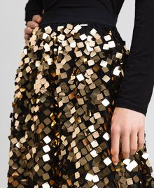 Midi skirt with sequins on tulle Sequin Embroidery Woman 192ST2213-05