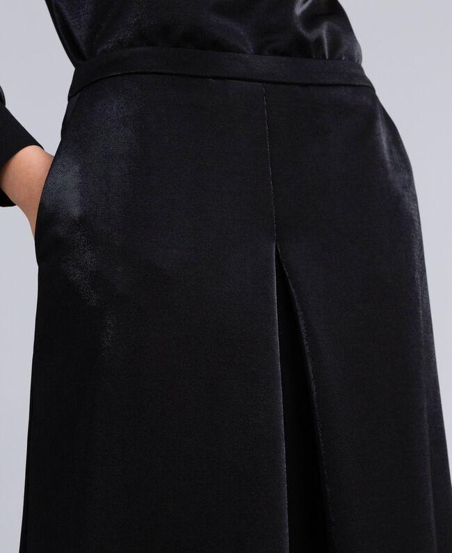 Pantaloni palazzo in tessuto tecnico Nero Donna IA85CC-04