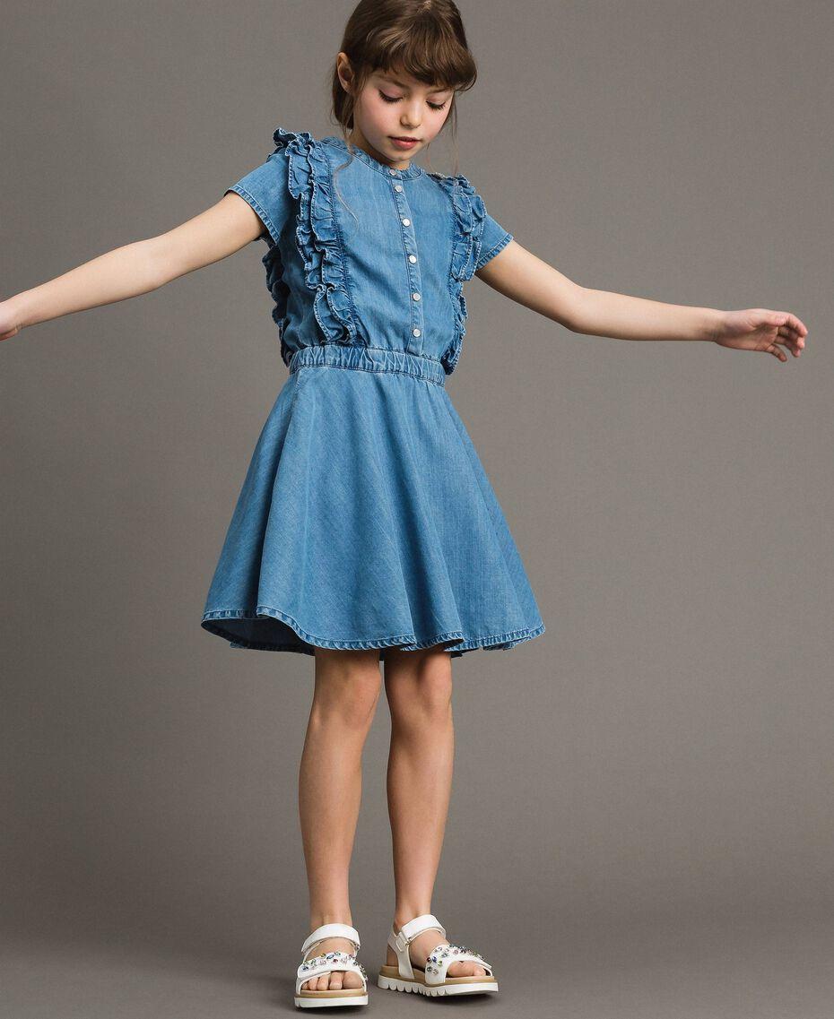 Jeanskleid mit Rüschen Soft Denim Kind 191GJ2562-0S