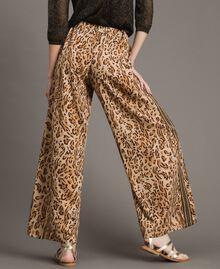 "Animal print palazzo trousers ""Petra Sandstone"" Brown Animal Print Woman 191LM2UEE-03"