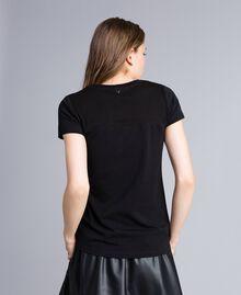 T-shirt en jersey avec paillettes Noir Femme JA82MT-03