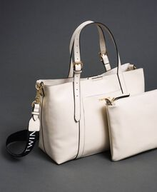 Faux patent leather shopping bag White Snow Woman 192TO8150-01