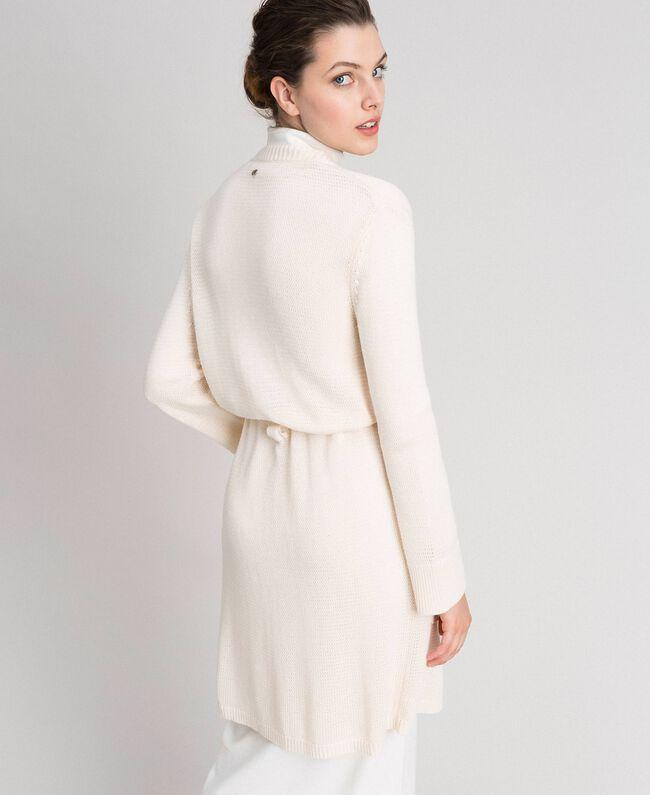 Maxi cardigan with belt Pale Peach Rose Woman 192LI32AA-03