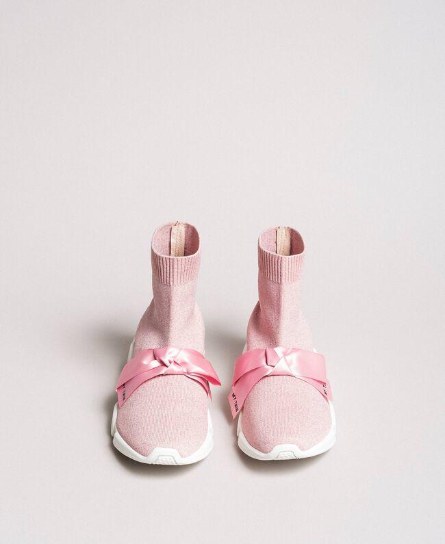 "Laufschuh mit Satinschleife ""Surreal Pink"" Frau 191MCP102-05"