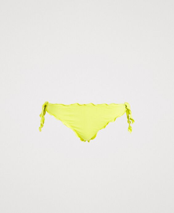 Brazilian bikini bottoms with little bows and ruffles