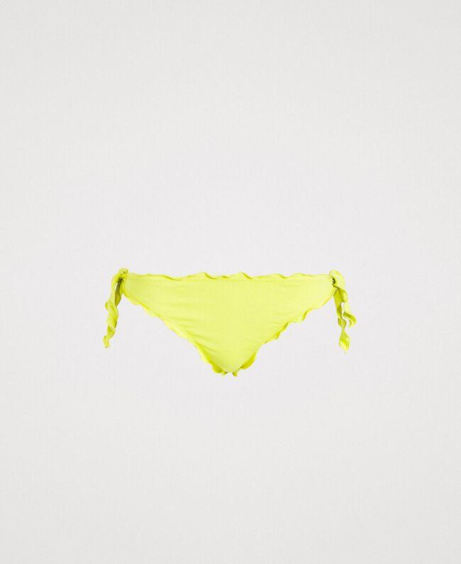 "Brazilian bikini bottoms with little bows and ruffles ""Lemon Juice"" Yellow Woman 191LBMHNN-01"