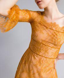 Short Valencienne lace dress Brandy Woman PA82FY-04