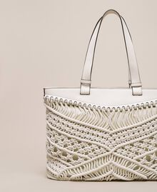 Crochet shopper Antique White Woman 201TO8130-04