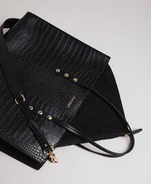 Grand sac cabas avec imprimé crocodile Imprimé Croco Noir Femme 192TA7274-01