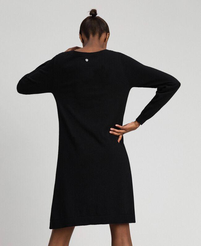 """Abito in lana e cashmere con similpelle Beige """"Sequoia"""" Donna 192ST3151-03"""