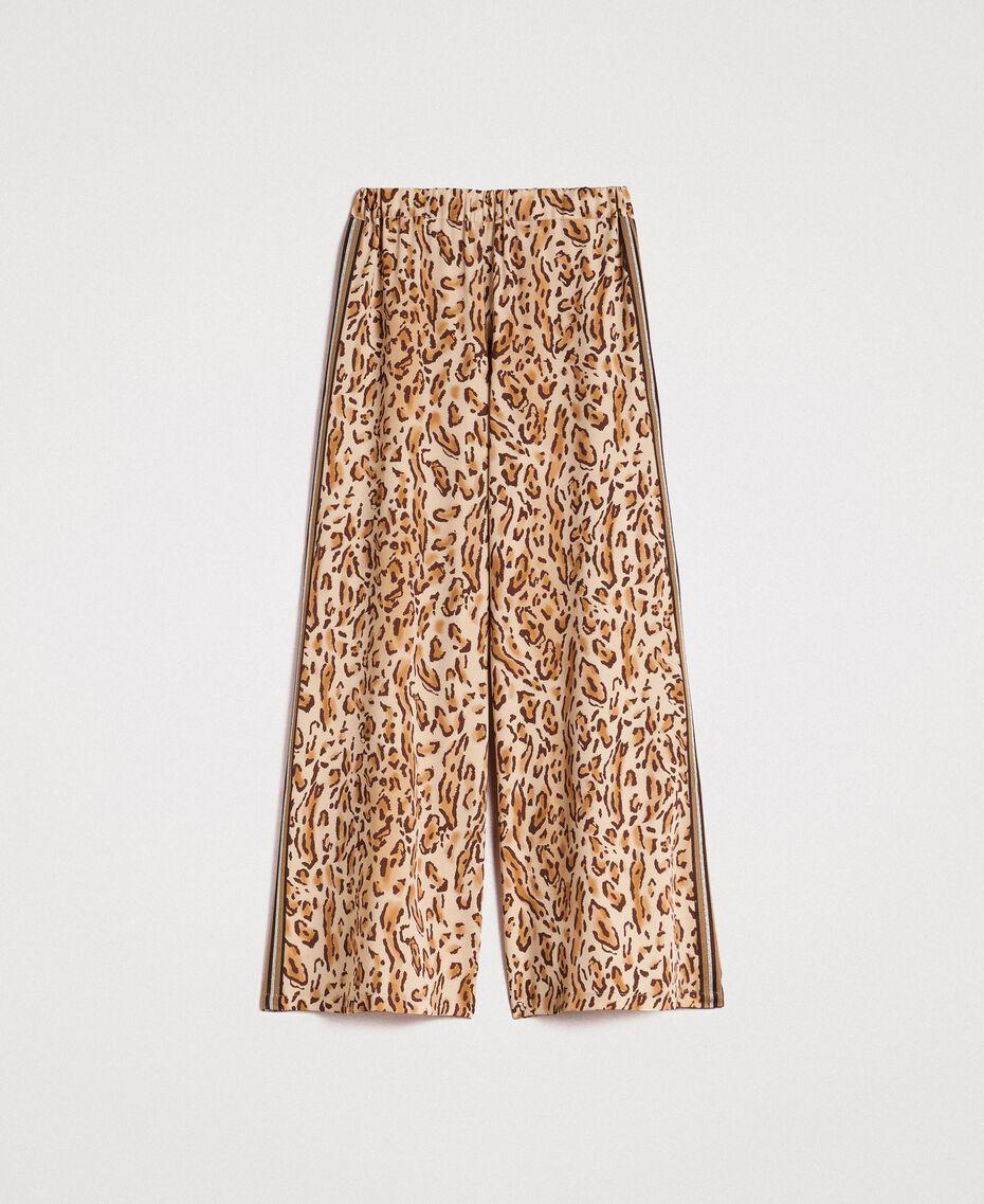 "Animal print palazzo trousers ""Petra Sandstone"" Brown Animal Print Woman 191LM2UEE-0S"