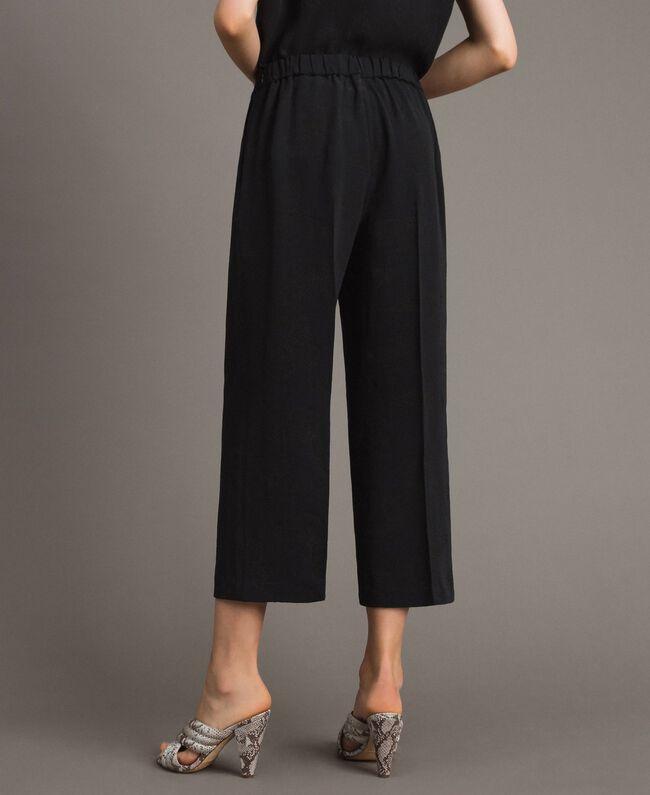 Jacquard butterfly trousers Black Woman 191TT2140-03