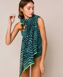 "Animal print sarong ""Atlantic Deep"" Green Zebra Print Woman 201LB4GHH-04"