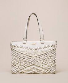 Crochet shopper Antique White Woman 201TO8130-01