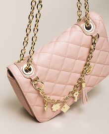 Faux leather shoulder bag with charms Quartz Pink Woman 201MA7043-03