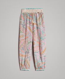 Muslin trousers with paisley print Paisley Print Child 191GJ2511-01