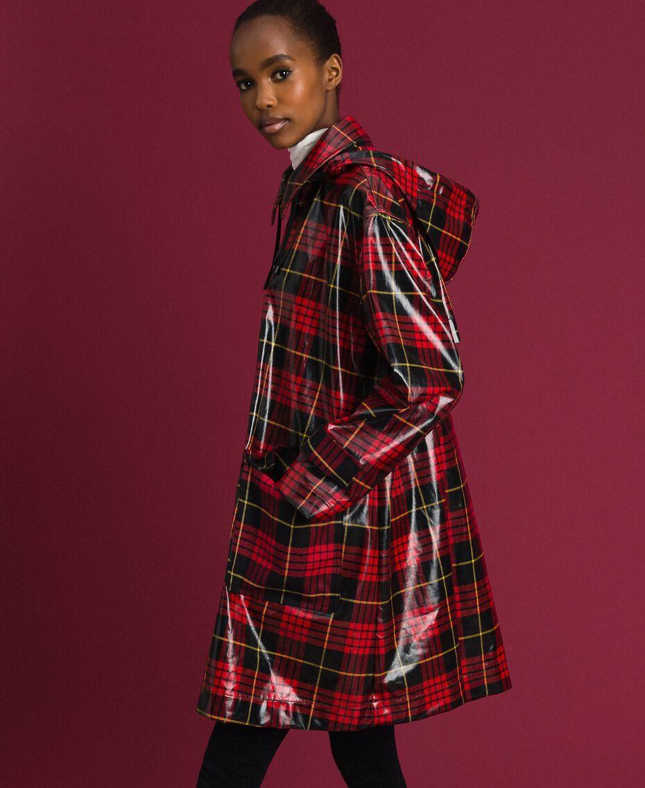Manteau à carreaux Jacquard Tartan Grenadier Femme 192TP2550-02