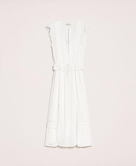 Длинное платье из сангалло